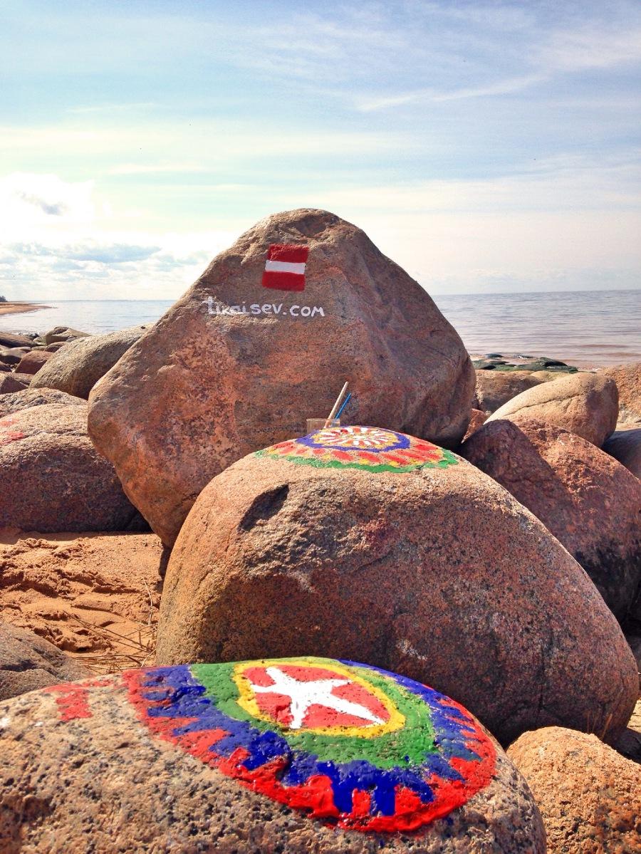 #1 akmeņu krāsošana jūrmalā